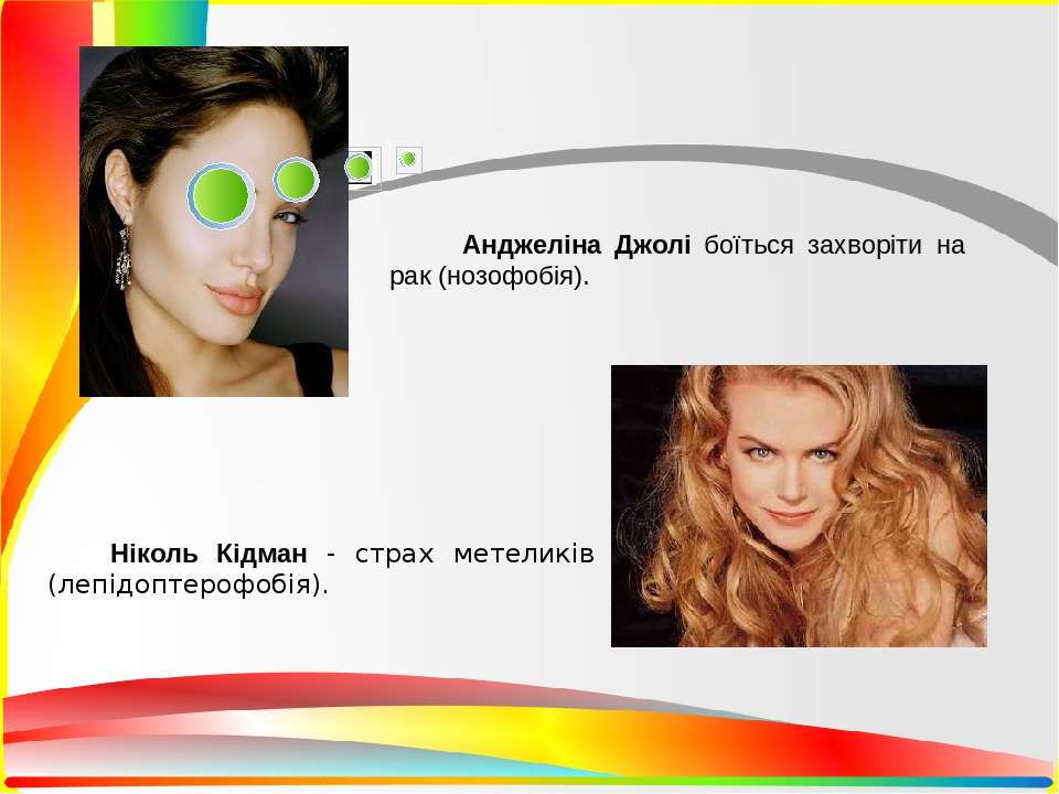 Анджеліна Джолі боїться захворіти на рак (нозофобія). Ніколь Кідман страх мет...
