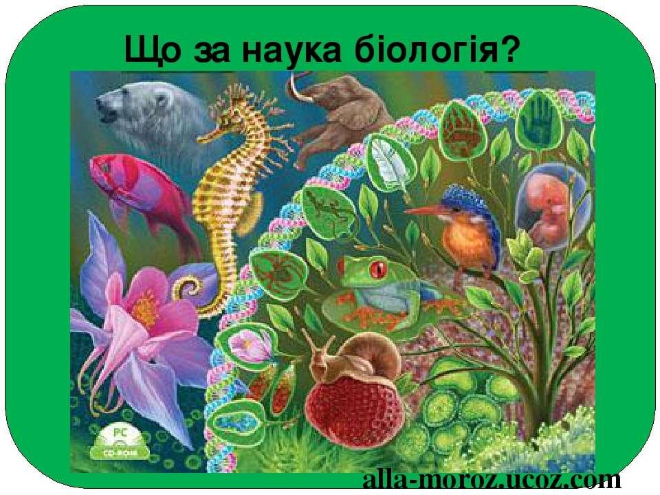 Що за наука біологія? alla-moroz.ucoz.com