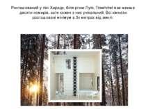 Розташований у лісі Харадс, біля річки Лулі, Treehotel має менше десяти номер...