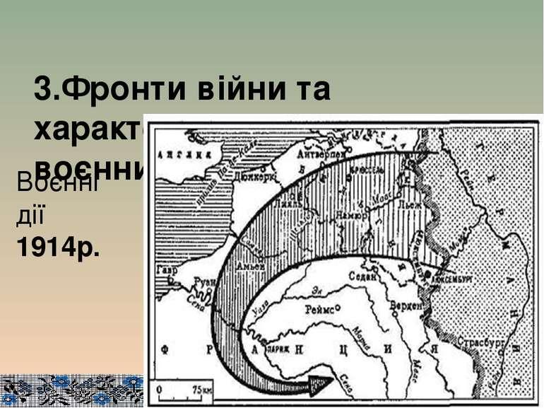 3.Фронти війни та характеристика основних воєнних кампаній. Воєнні дії 1914р.