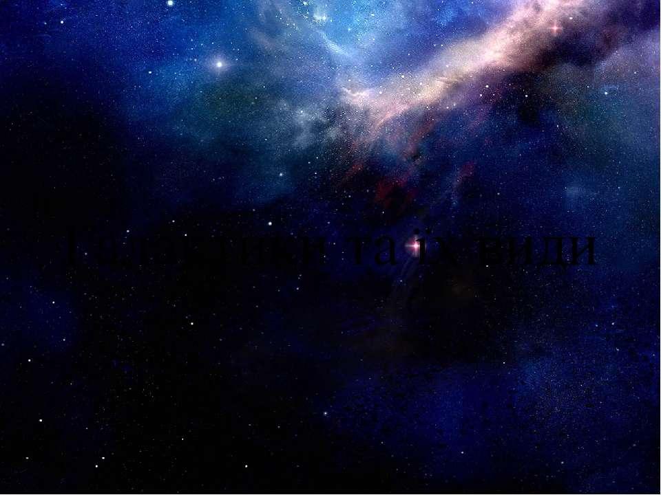 Галактики та їх види