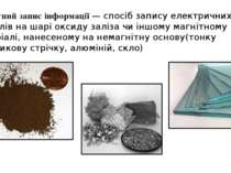 Магнітний запис інформації — спосіб запису електричних сигналів на шарі оксид...