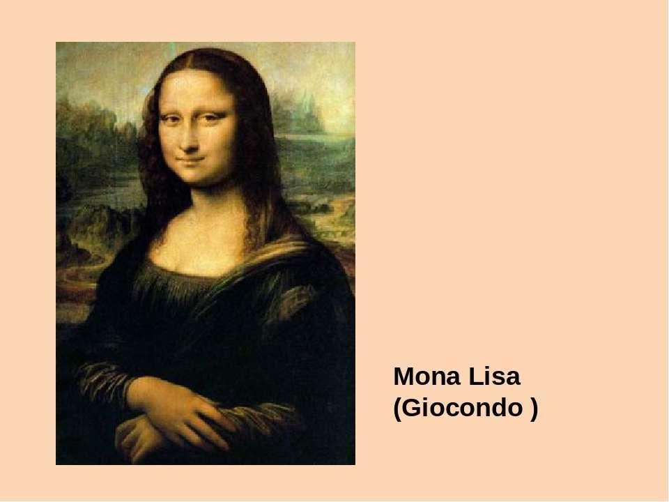 Mona Lisa (Giocondo)