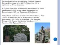 На сьогоднішній день налічується 1384 пам'ятники Тарасу Шевченку у світі: 125...