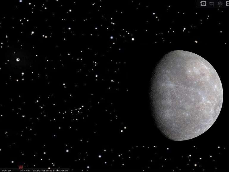 Меркурій Меркурій є найближчою до Сонця й найменшою планетою системи. У Мерку...