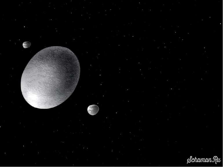 Гаумеа Гаумеа — карликова планета. Має сильно витягнуту форму і період оберта...