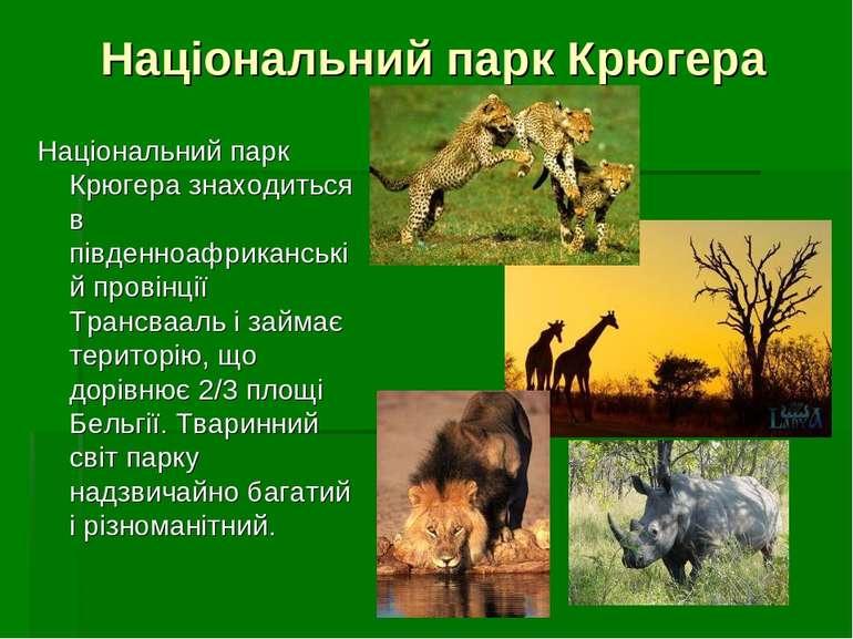 Національний парк Крюгера Національний парк Крюгера знаходиться в південноафр...