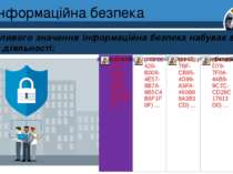 Інформаційна безпека Розділ 1 § 1 Особливого значення інформаційна безпека на...