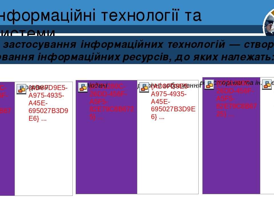 Інформаційні технології та системи Розділ 1 § 1 Мета застосування інформаційн...