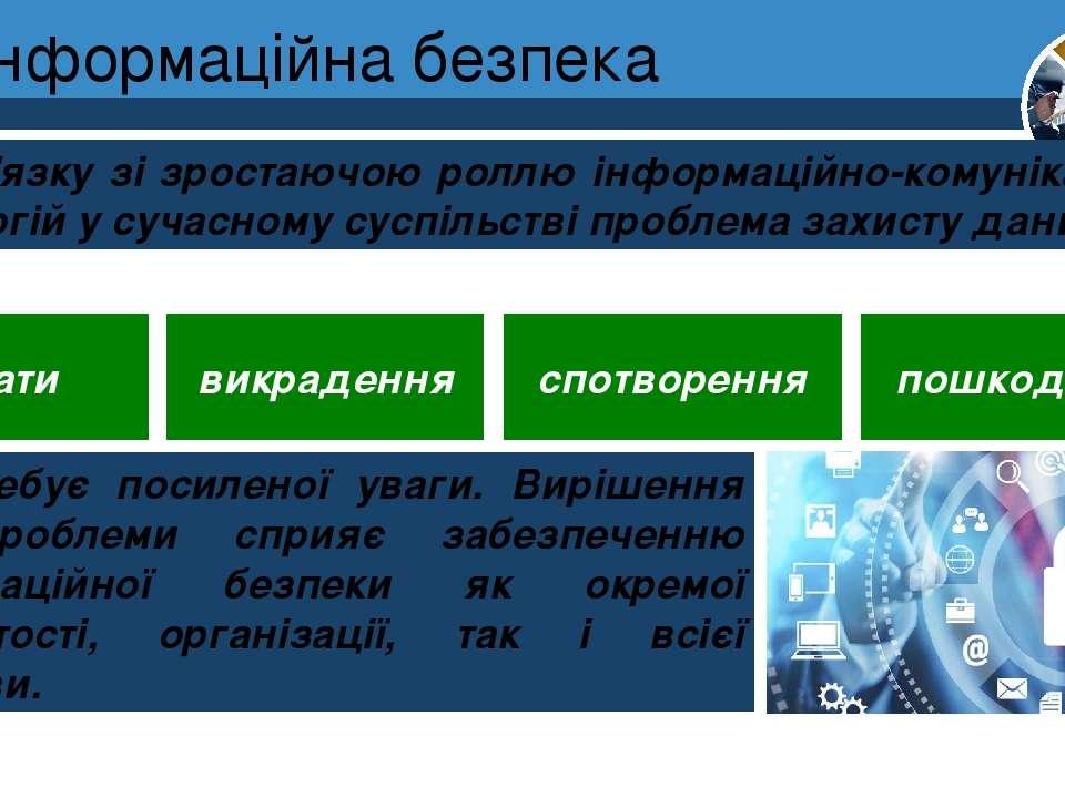 Інформаційна безпека Розділ 1 § 1 У зв'язку зі зростаючою роллю інформаційно-...