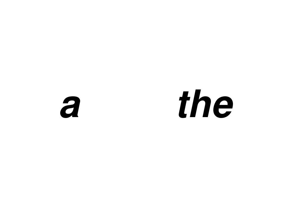 a the