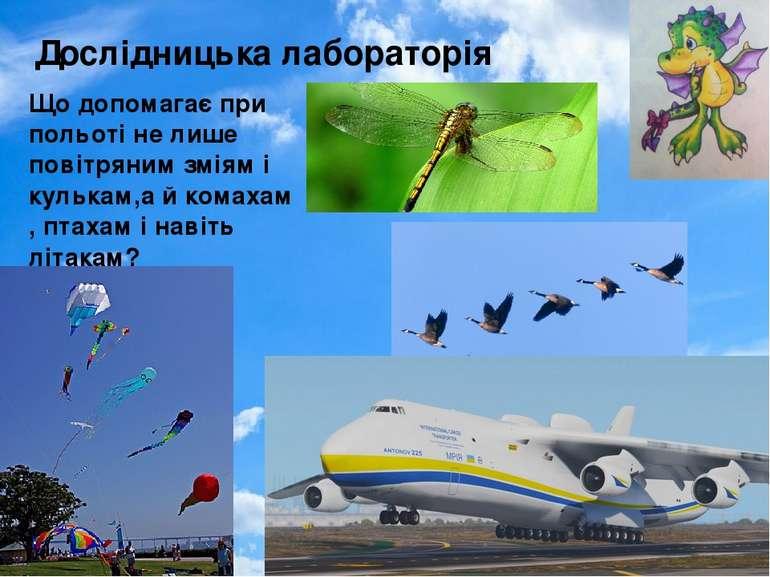 Дослідницька лабораторія Що допомагає при польоті не лише повітряним зміям і ...