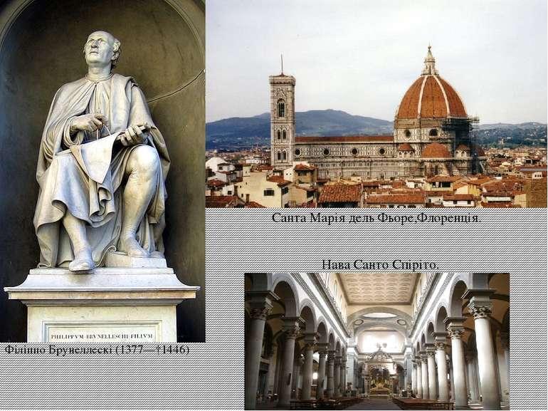 Філіппо Брунеллескі(1377—†1446) Санта Марія дель Фьоре,Флоренція. НаваСанто...