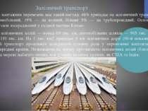 Залізничий транспорт Структура вантажних перевезень має такий вигляд: 48% при...