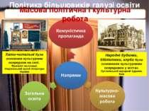 Політика більшовиків галузі освіти Масова політична і культурна робота Хати-ч...