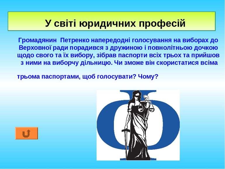 У світі юридичних професій Громадянин Петренко напередодні голосування на виб...