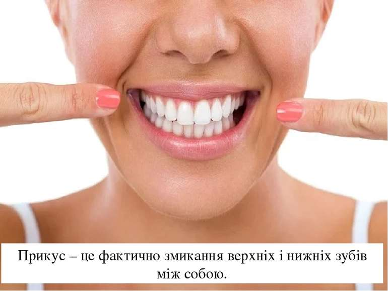 Прикус – це фактично змикання верхніх і нижніх зубів між собою.