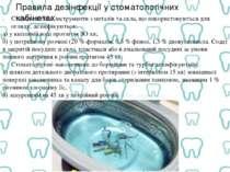 Правила дезінфекції у стоматологічних кабінетах Стоматологічні інструменти з ...