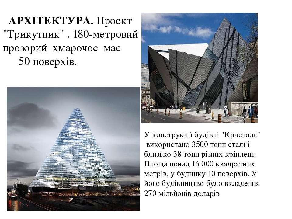 """АРХІТЕКТУРА. Проект """"Трикутник"""" . 180-метровий прозорий хмарочос має 50 повер..."""