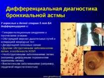 Дифференциальная диагностика бронхиальной астмы У взрослых и детей старше 5 л...