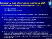 Препараты для облегчения симптомов БА: Системные глюкокортикостероиды - СГКС ...