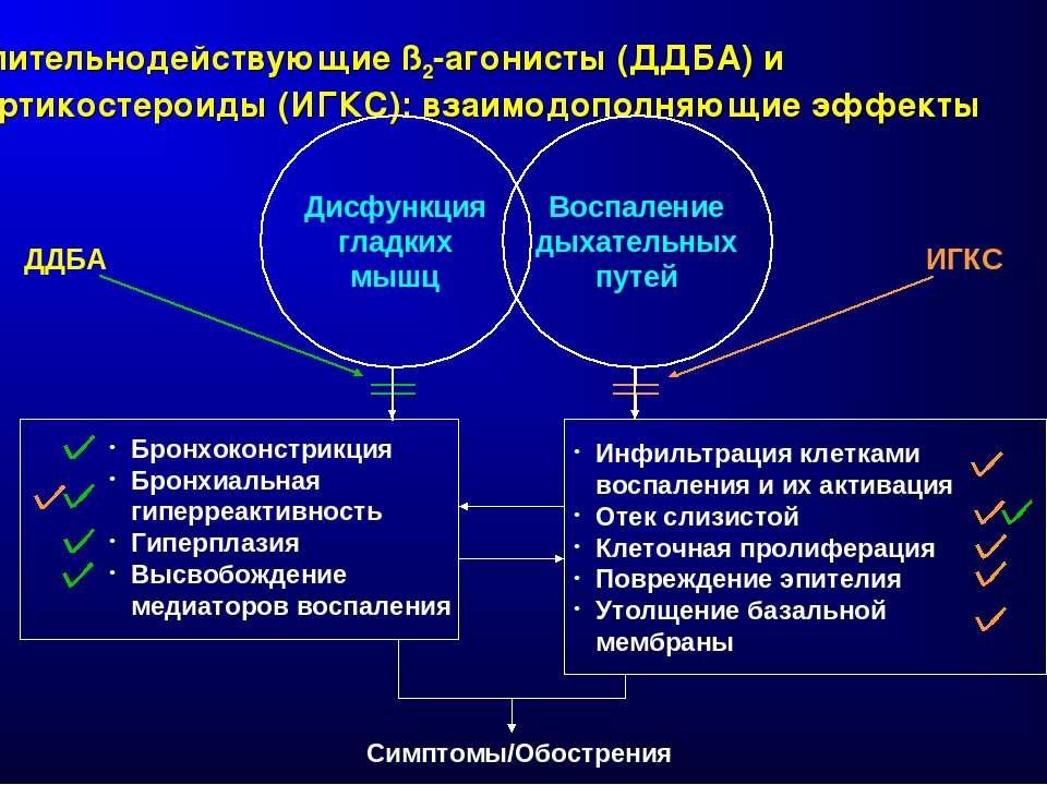 Длительнодействующие ß2-агонисты (ДДБА) и кортикостероиды (ИГКС): взаимодопол...