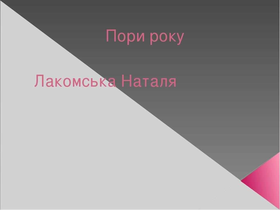 Пори року Лакомська Наталя