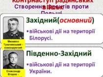 Створення фронтів проти Польщі Контрнаступ радянських військ Олександр Єгоров...