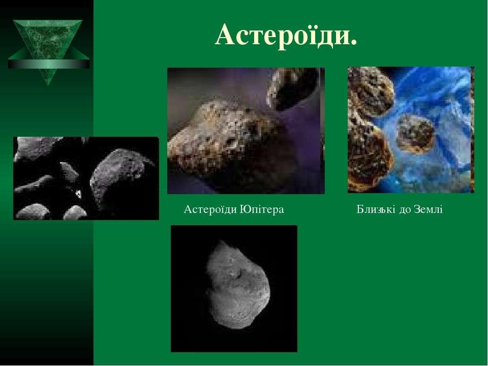Астероїди. Астероїди Юпітера Близькі до Землі