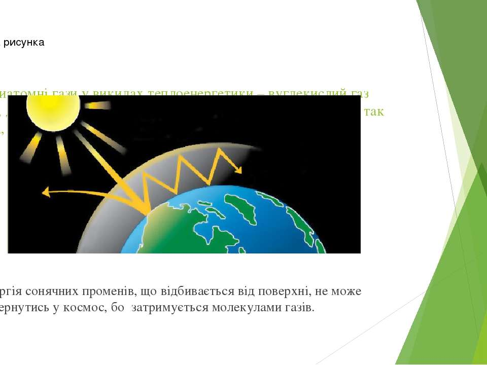 Усі триатомні гази у викидах теплоенергетики – вуглекислий газ (СO2), діоксид...
