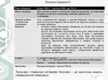 Основні відомості або це стрілки, що означають виконання підстановки; Тренаже...