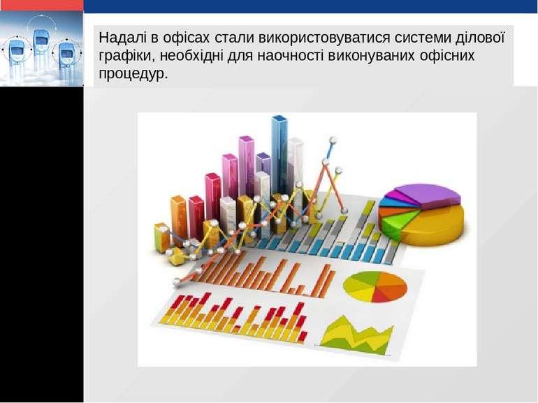 Надалі в офісах стали використовуватися системи ділової графіки, необхідні дл...