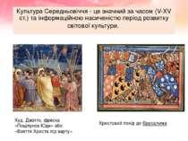 Культура Середньовіччя - це значний за часом (V-ХV ст.) та інформаційною наси...