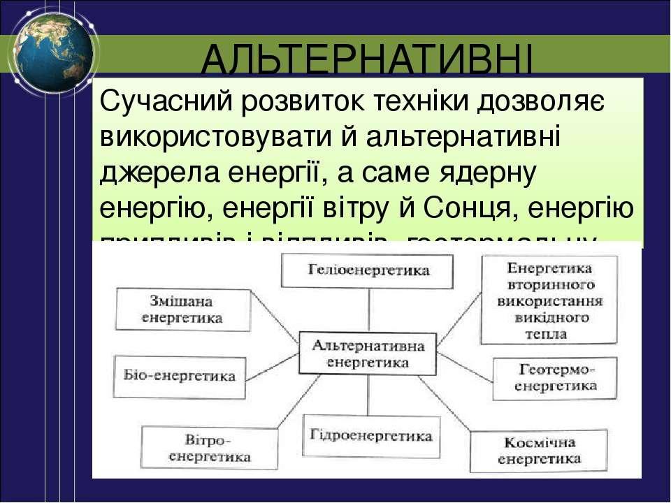 АЛЬТЕРНАТИВНІ ДЖЕРЕЛА Сучасний розвиток техніки дозволяє використовувати й ал...