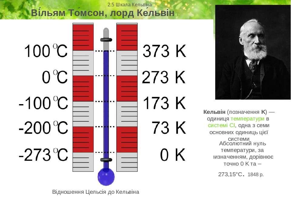 Абсолютний нуль температури, за визначенням, дорівнює точно 0 K та –273,15°C....
