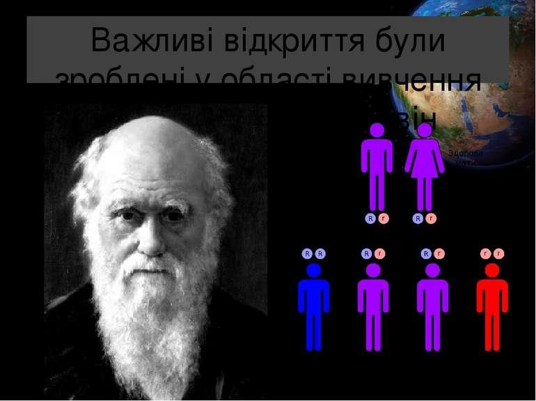 Важливі відкриття були зроблені у області вивчення спадковості. Ч. Дарвін