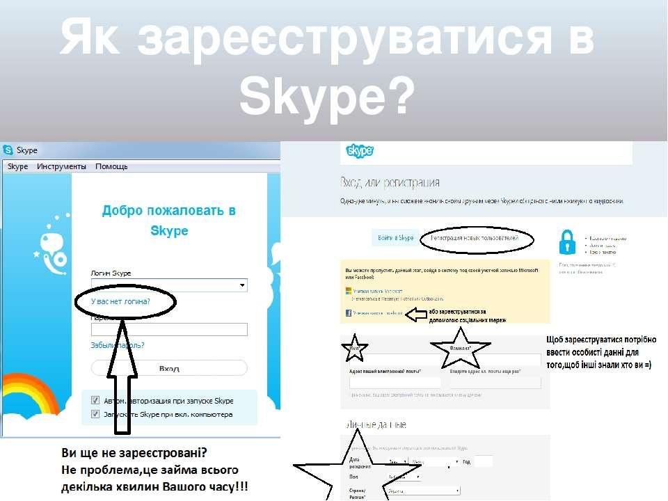 Як зареєструватися в Skype?