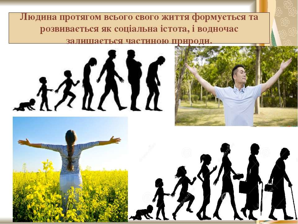 Людина протягом всього свого життя формується та розвивається як соціальна іс...
