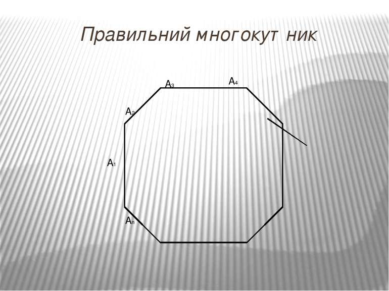 Правильний многокутник А1 А2 А3 An A4 α β