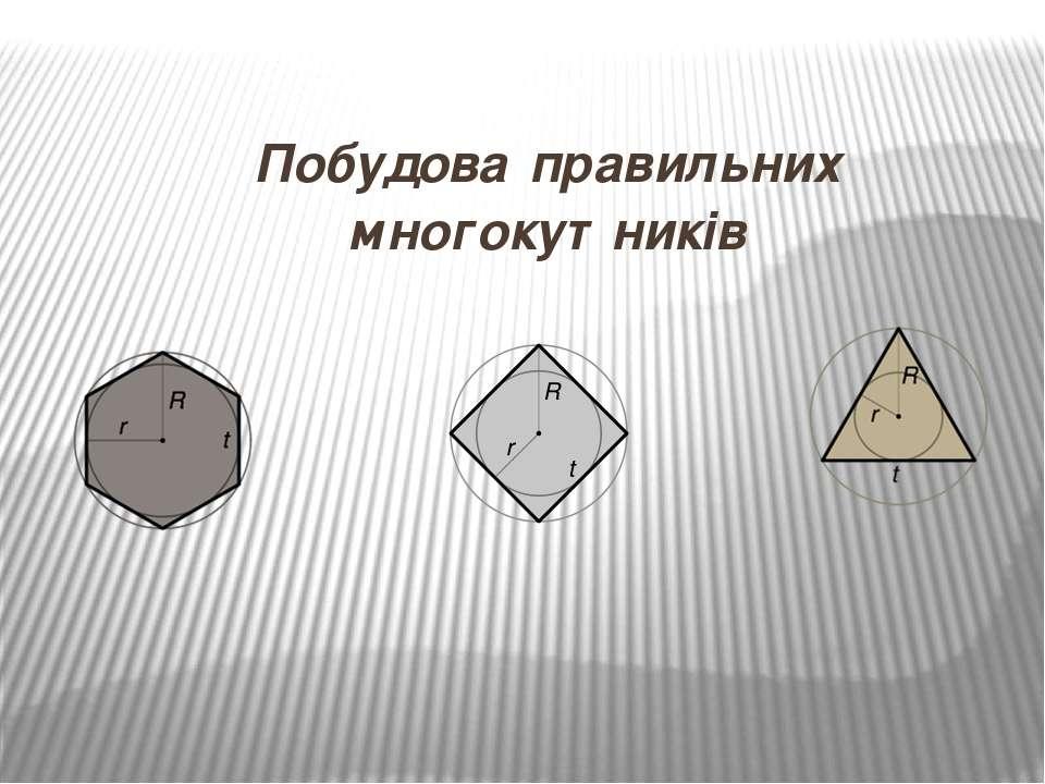 Побудова правильних многокутників