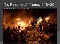 Пік Революції Гідності 18–20 лютого 2014 р.