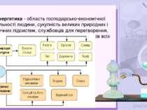 Енергетика - область господарсько-економічної діяльності людини, сукупність в...
