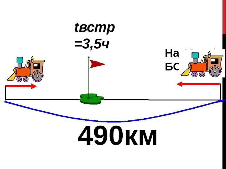 На 12 км/ч БОЛЬШЕ 490км tвстр =3,5ч Идея задачи №1464. Математика 5 класс. Н....