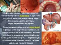 Інфекційний агент може проникати в організм породіллі екзогенно (з рук самої ...