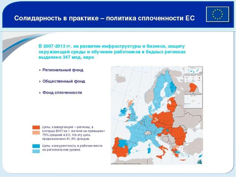Солидарность в практике – политика сплоченности ЕС В 2007-2013 гг. на развити...