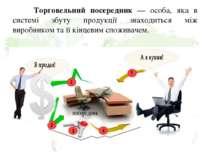 Торговельний посередник — особа, яка в системі збуту продукції знаходиться мі...