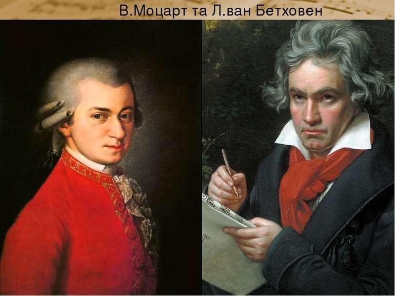 В.Моцарт та Л.ван Бетховен