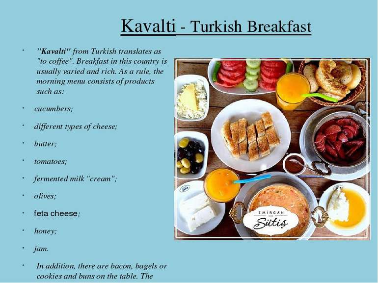 "Kavalti - Turkish Breakfast ""Kavalti"" from Turkish translates as ""to coffee""...."
