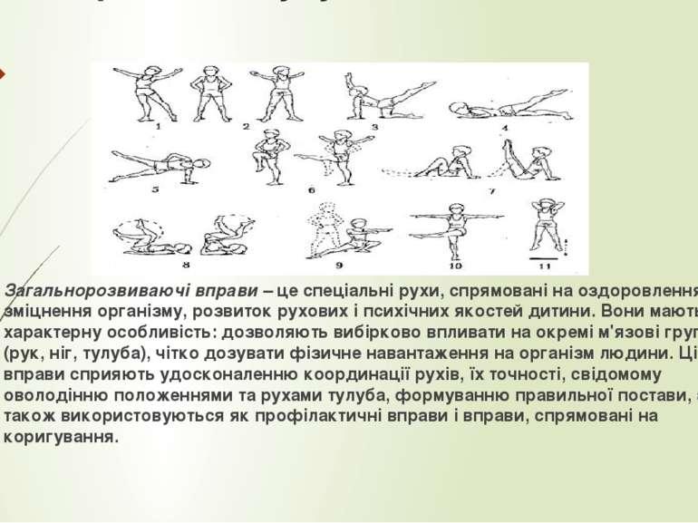 Вправи для тулуба як елемент ЗРВ Загальнорозвиваючі вправи –це спеціальні ру...
