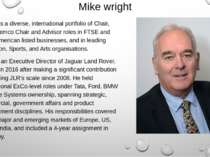Mike wright Mike has a diverse, international portfolio of Chair, NED, Remco ...